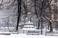 miasto nowy śnieżny York Zdjęcia Stock