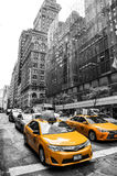 Miasto Nowy Jork Żółte taksówki, Miasto Nowy Jork koloru żółtego taxi Zdjęcie Stock