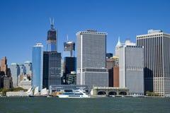 Miasto Nowy Jork śródmieście w wolności wierza 4 i wierza Obrazy Royalty Free