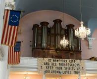 Miasto Nowy Jork świętego Pauls kaplicy 9/11 pomnik Zdjęcie Royalty Free