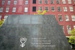 Miasto Nowy Jork: Afrykański miejsce pochówku ulicy widok Zdjęcia Royalty Free
