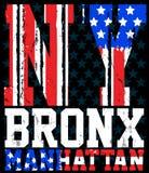 Miasto Nowy Jork America flaga wektorowy druk i uniwerek Dla koszulki Ilustracja Wektor