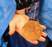 2017 Miasto Nowy Jork apretera Maratoński medal w Manhattan obrazy royalty free
