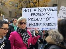 Miasto Nowy Jork; Atutowy protest Zdjęcia Royalty Free