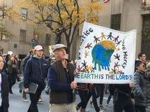 Miasto Nowy Jork; Atutowy protest Zdjęcie Royalty Free