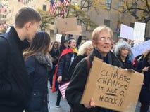 Miasto Nowy Jork; Atutowy protest Fotografia Stock