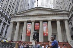 Miasto Nowy Jork, august 3rd: Federacyjny Hall muzeum narodowe od Manhattan w Nowy Jork zdjęcia royalty free