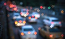Miasto Nowy Jork, Brookly mosta samochodów światła - Obraz Royalty Free