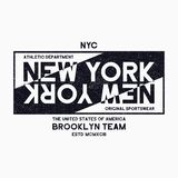 Miasto Nowy Jork, Brooklyn typografii grafika dla koszulki Grunge druk dla NYC sportowej odzieży Oryginalny ulicznych ubrań proje Obraz Royalty Free