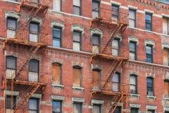 Miasto Nowy Jork brownstones Fotografia Royalty Free