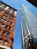 Miasto Nowy Jork budynki Starzy i Nowi Zdjęcia Royalty Free