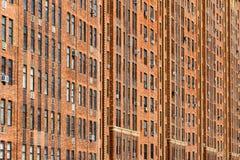 Miasto Nowy Jork budynku mieszkaniowego tło Obrazy Stock