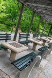 Miasto Nowy Jork central park szachy stoły Zdjęcie Royalty Free