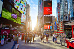 MIASTO NOWY JORK, CZERWIEC - 14, 2016: Times Square USA Fotografia Stock