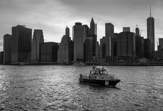 Miasto Nowy Jork departamentu policji łódź Zdjęcie Royalty Free
