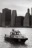 Miasto Nowy Jork departamentu policji łódź Fotografia Stock