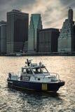 Miasto Nowy Jork departamentu policji łódź Zdjęcia Stock