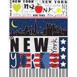 Miasto Nowy Jork ilustracja Zdjęcia Royalty Free