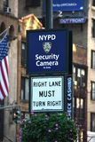 Miasto Nowy Jork kamery bezpieczeństwe W Miasto Nowy Jork zdjęcie royalty free
