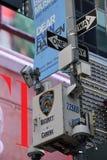 Miasto Nowy Jork kamery bezpieczeństwe W Miasto Nowy Jork obraz stock