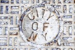 Miasto Nowy Jork kanał ściekowy Obraz Royalty Free
