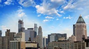 Miasto Nowy Jork. Lato zmierzch w Manhattan Obraz Royalty Free