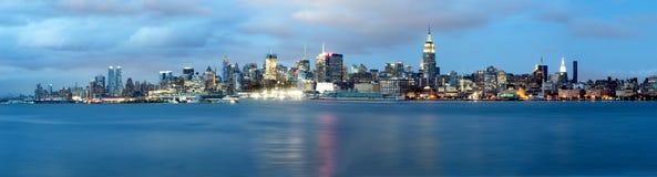 Miasto Nowy Jork linia horyzontu Zdjęcia Stock