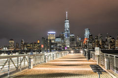 Miasto Nowy Jork linia horyzontu od Nowego - bydło Obrazy Stock