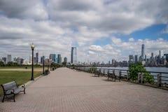 Miasto Nowy Jork linii horyzontu formy stanu Dżersejowy park Fotografia Stock