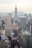 Miasto Nowy Jork linii horyzontu półmroku usa Zdjęcia Royalty Free