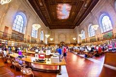 Inside sławna Nowy Jork biblioteka publiczna zdjęcia stock