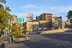 MIASTO NOWY JORK, LIPIEC - 09: Zmierzch Zdjęcia Stock