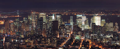 Miasto Nowy Jork Manhattan linia horyzontu panorama Obrazy Royalty Free