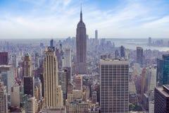 Miasto Nowy Jork, Manhattan linii horyzontu empire state building widok Obraz Royalty Free