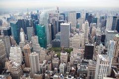 Miasto Nowy Jork Manhattan linii horyzontu widok Zdjęcie Stock
