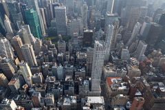 Miasto Nowy Jork Manhattan linii horyzontu widok z lotu ptaka z drapaczami chmur Fotografia Royalty Free