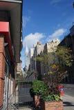 Miasto Nowy Jork Manhatten usa linii horyzontu niebo Fotografia Royalty Free