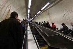 Miasto Nowy Jork metra schodki Fotografia Royalty Free