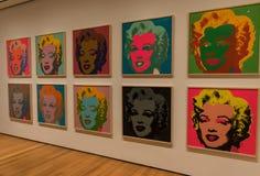 Miasto Nowy Jork MOMA Andy Warhol, Marylin Monroe wystrzału sztuka Zdjęcia Royalty Free