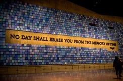 Miasto Nowy Jork 9/11 muzeów Fotografia Stock