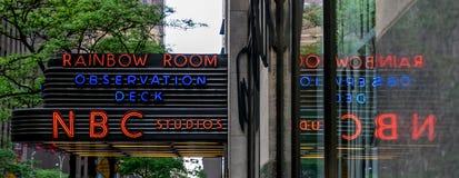 Miasto Nowy Jork NBC studia Obraz Royalty Free