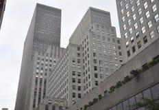 Miasto Nowy Jork, 2nd Lipiec: Rockefeller drapaczy chmur szczegóły w Manhattan od Miasto Nowy Jork w Stany Zjednoczone zdjęcia royalty free