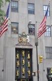 Miasto Nowy Jork, 2nd Lipiec: Rockefeller Ześrodkowywa budynków szczegóły od Manhattan w Miasto Nowy Jork w Stany Zjednoczone Obraz Stock