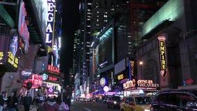 Miasto Nowy Jork nighttime zbiory
