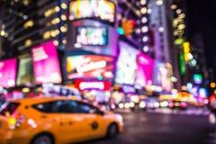 Miasto Nowy Jork nocy abstrakt Fotografia Royalty Free