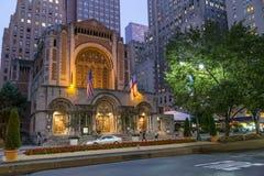 Miasto Nowy Jork, NY/USA - około Lipiec 2015: St Bartholomew kościół w Nowy Jork fotografia stock