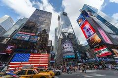 Miasto Nowy Jork, NY/USA - około Lipiec 2013: Czasu kwadrat w Miasto Nowy Jork Zdjęcia Royalty Free