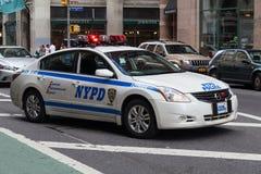 Miasto Nowy Jork, NY/USA - około Lipiec 2015: Samochód policyjny w Nowy Jork Obraz Royalty Free