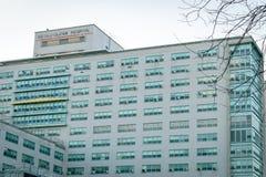 Miasto Nowy Jork, NY/USA - 01/24/2019: W g?r? Wielkomiejskiego szpitala w upper manhattan obrazy royalty free