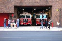 Miasto Nowy Jork ogienia dom Obrazy Royalty Free